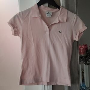 Lacoste polo shirt  Light pink Size 38